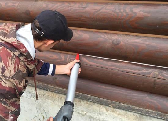 Утепление герметиком теплый шов с помощью пистолета